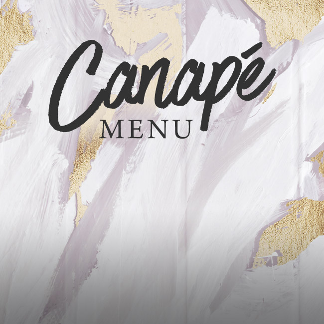 Canapé menu at The Albany