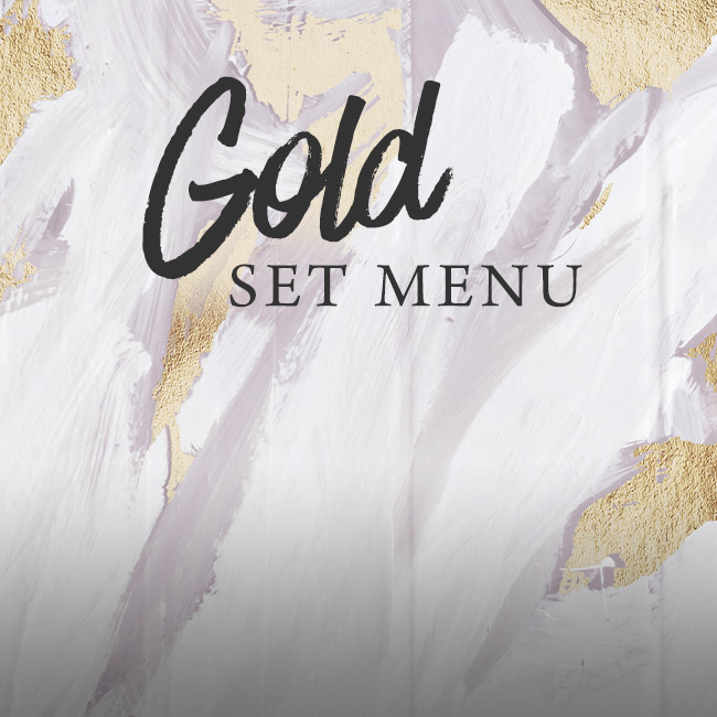 Gold set menu at The Albany