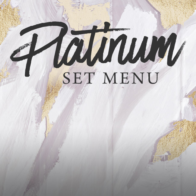 Platinum set menu at The Albany