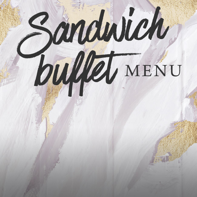 Sandwich buffet menu at The Albany