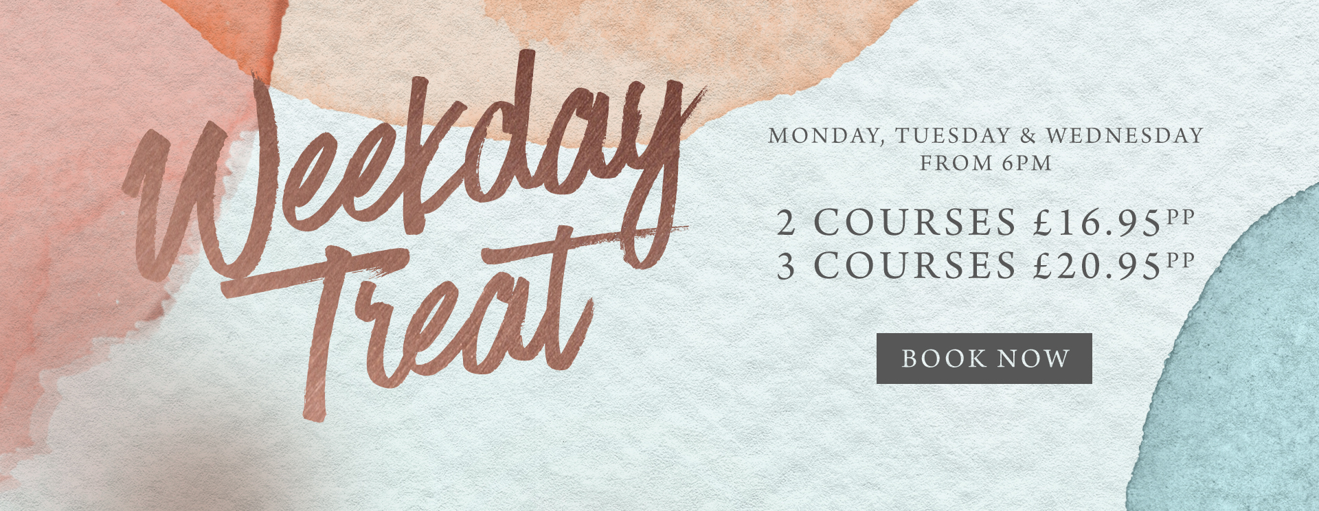 Weekday treat at The Albany - Book now