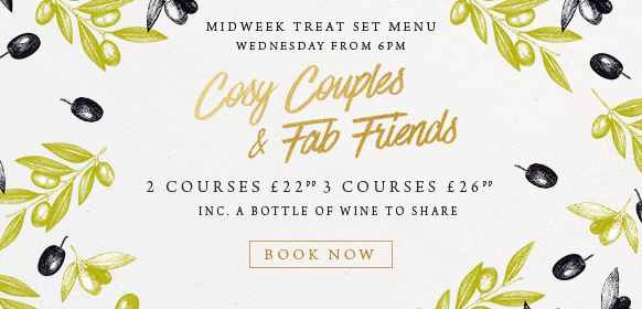 Midweek treat set menu at The Albany