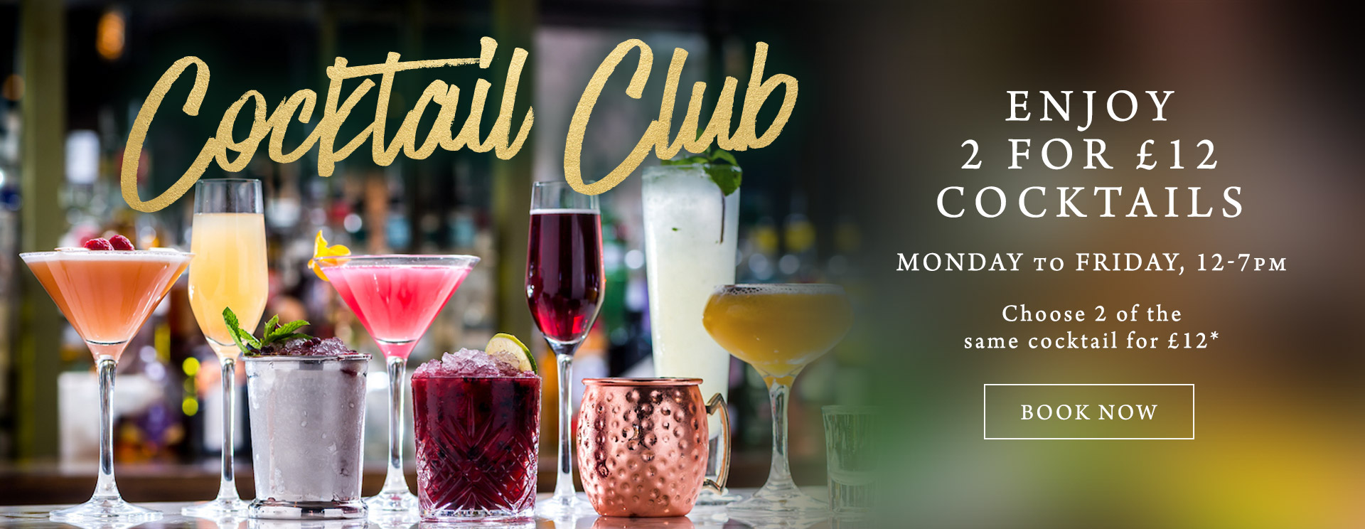 2 for £12 cocktails at The Albany